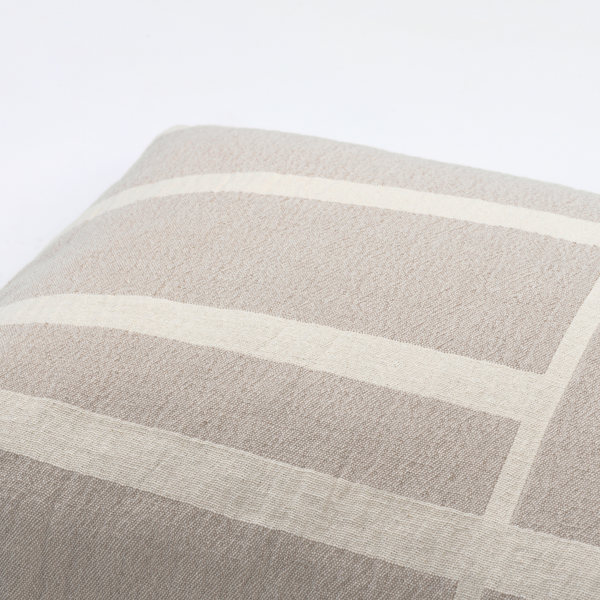 Architecture Cushion Large - Beige / Off White