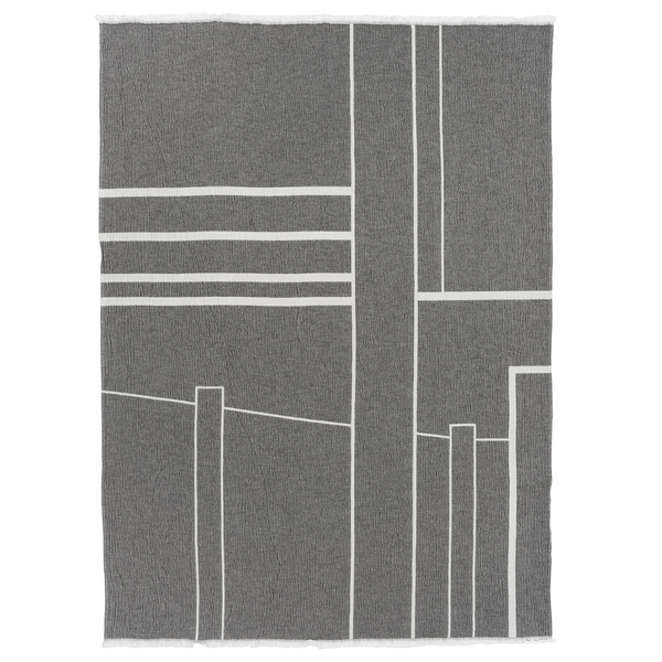 The Architecture Throw by Kristina Dam is a charming blanket made from organic cotton that you'll love adding to any space in your home. We love the modern and simple design, mimicking clean lines of city scapes.  We love it draped on the corner of a sitting chair, or at the edge of a stylish bench. This high quality piece is easy to care for, and is the perfect size for any occasion.