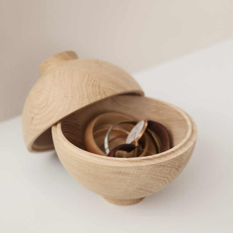 Kristina DamXL Wooden Sphere Oak - Batten Home
