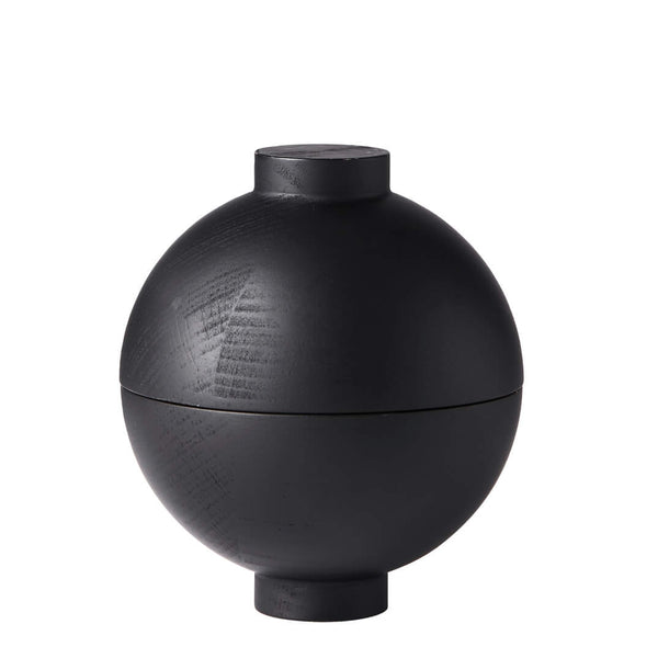 Wooden Sphere Black - Batten Home