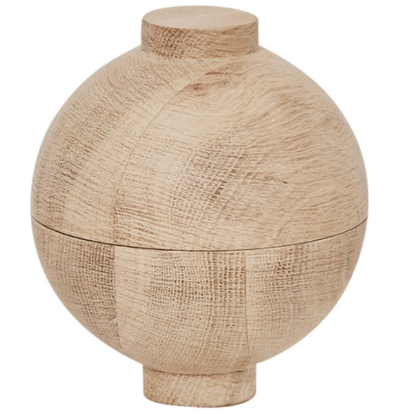 XL Wooden Sphere Oak - Batten Home