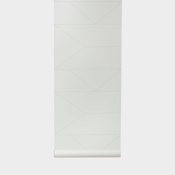 Lines Wallpaper Off White - Batten Home