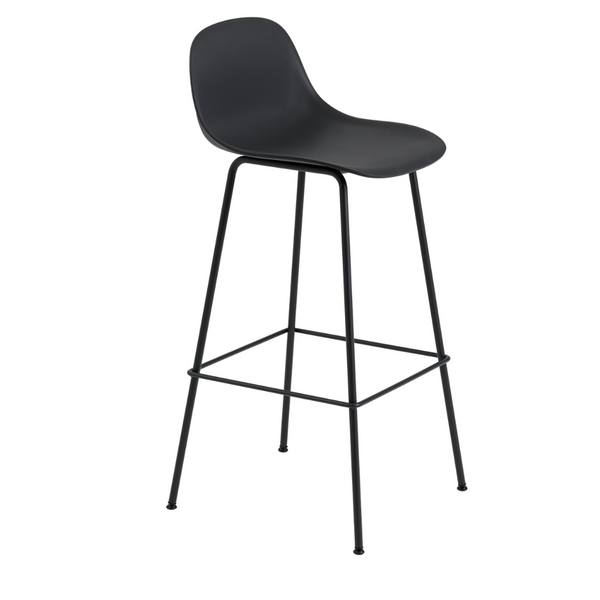 MuutoFiber Bar Stool with Backrest - Tube Base - Batten Home