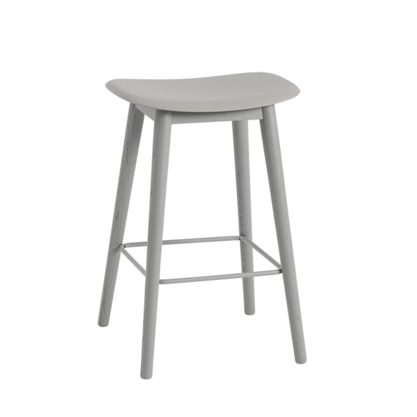 MuutoFiber Counter Stool - Wood Base - Batten Home