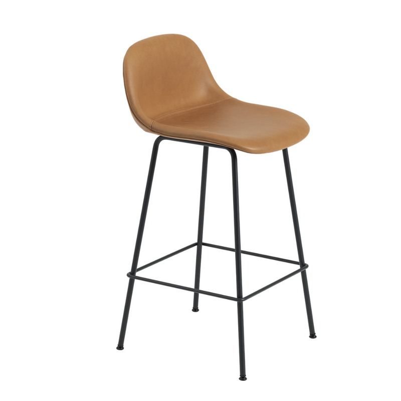 MuutoFiber Counter Stool with Backrest - Tube Base - Batten Home