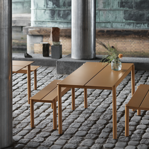 Linear Steel Table 140 x 75 - Batten Home