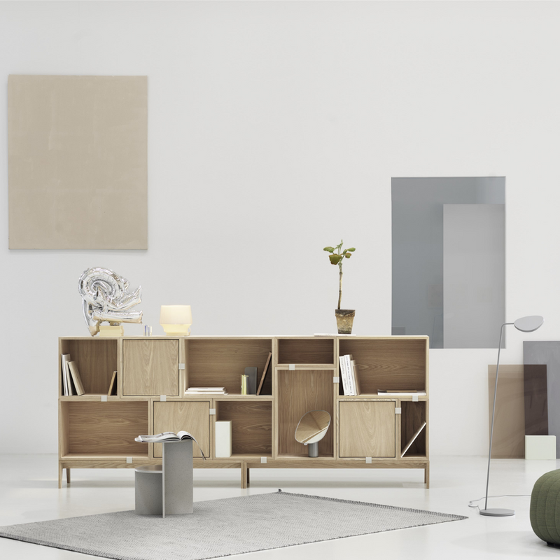 The Stacked Storage System in Configuration Seven by MUUTO is a thoughtfully curated product using the Stacked Storage System Collection. Individually, the Stacked Storage System can be modified in endless ways to create and aesthetically pleasing storage solution in any space needed.