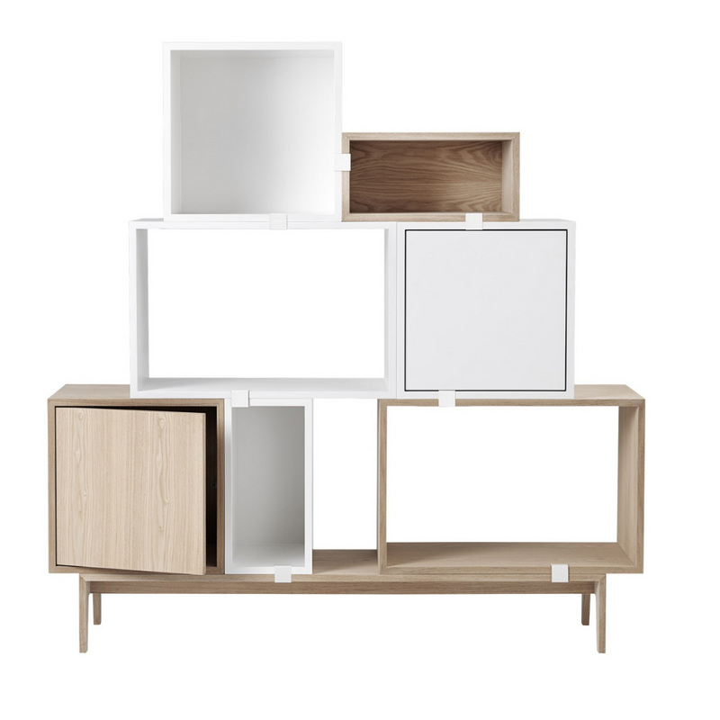 The Stacked Storage System in Configuration Two by MUUTO is a thoughtfully curated product using the Stacked Storage System Collection. Individually, the Stacked Storage System can be modified in endless ways to create and aesthetically pleasing storage solution in any space needed.