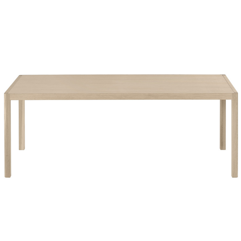 The Workshop Table 200 by MUUTO was designed in collaboration with Cecilie Manz resulting in a modern table made from high quality materials with attention to detail.  This timeless piece is the ideal expression of Scandinavian style, with impressive craftsmanship, and either the classic oak or Warm Grey with Oak option would look perfect in any dining room or home office.
