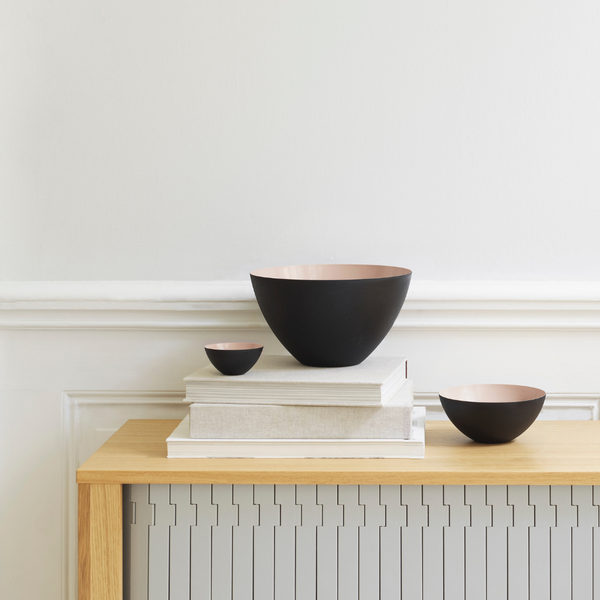 The Krenit Bowl by Normann Copenhagen was inspired by contemporary shapes that are both expressive and fully functional for everyday use. We love its distinct shape, which is both vintage yet modern.
