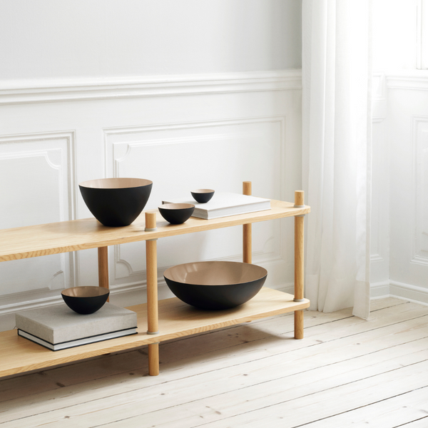 The Krenit Bowl by Normann Copenhagen was inspired by contemporary shapes that are both expressive and fully functional for everyday use. We love its distinct shape, which is both vintage yet modern. The Krenit Bowl is available in five different sizes, and looks great when used as a set or solo.