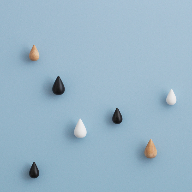 The Dropit Hooks by Normann Copenhagen were created in collaboration with Asshoff & Brogård as an expressive way to hang your favorite items from the wall. We love the teardrop shape of this simple wooden hook, which looks cool styled in pairs or in larger groupings too.