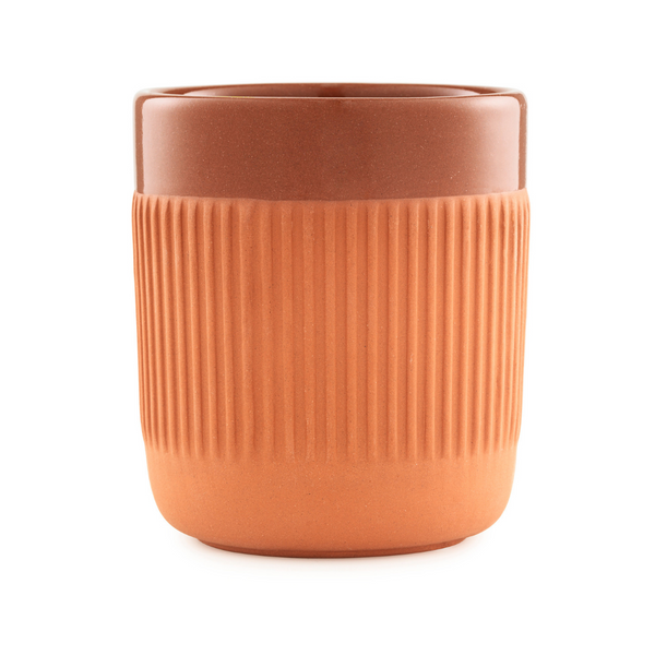 The Junto Cup by Normann Copenhagen was inspired by traditional Spanish ceramics in a beautiful fired terracotta. We love the organic shape of the handmade stoneware, and the Junto Cup is the perfect compliment to the Junto Carafe.
