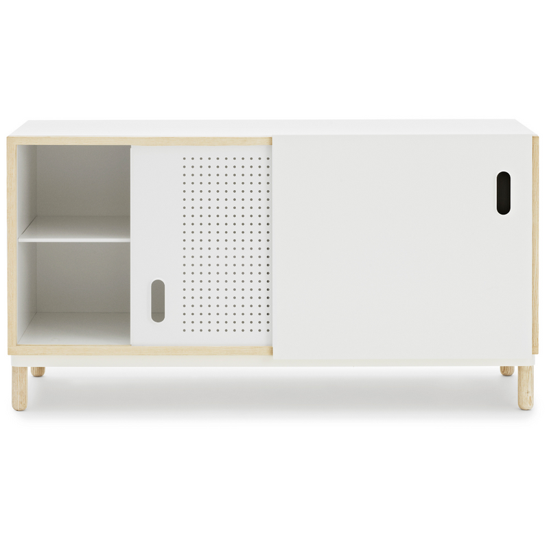 The Kabino Sideboard by Normann Copenhagen was designed by Simon Legald as a simple yet stylish storage solution that has careful details added in for a unique look.   We love it styled as an entryway credenza, styled with a table top lamp, a stack of books or a collection of vases. Its neutral and modern style allows it to blend in or stand out depending on its intended use.
