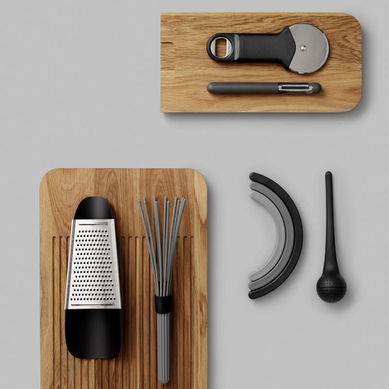 The Pin Peeler by Normann Copenhagen was created in collaboration with Jan Christian Delfs as a simple, functional and aesthetically pleasing kitchen accessory.   Jan Christian Delfs is the recipient of a number of notable design awards. He is best known for his design contributions of household accessories that range from electronics to manual every day items such as the Normann Copenhagen Pin Peeler.
