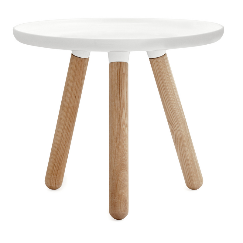 The Tablo Table Small by Normann Copenhagen was designed by Nicholai Wiig as a fun take on a minimal table, with a bold wide top paired with wooden legs. The simple design allows it to blend in with any homes style, we love it styled as side table in a well-loved living space, or when used as a bedside table.