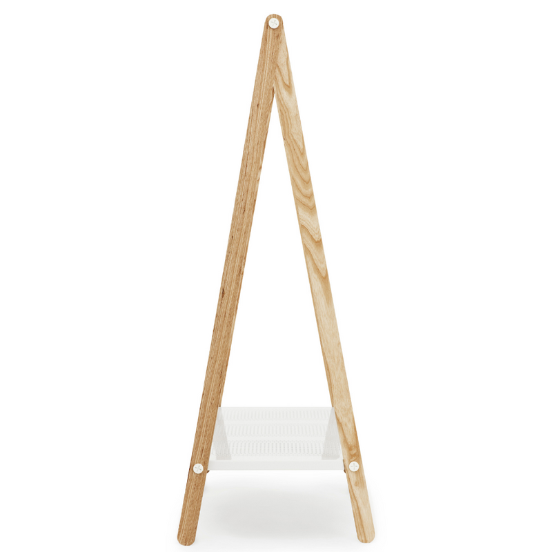 The Toj Clothes Rack is sure to be your favorite storage accessory. Designed by Simon Legald for Normann Copenhagen, this piece combines industrial style with simple and thoughtful design. We adore the clean lines from the metal shelf and trusses which makes it durable, while the wooden structure provides a softer feel, optimal for the bedroom or guest room.