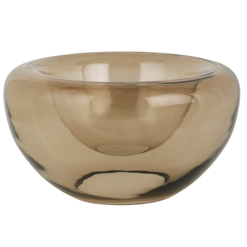 The Opal Bowl by Kristina Dam is an elegant and eye-catching addition to any home's collection of glassware. We love the soft shape and silhouette, which looks lovely styled as a centerpiece or used for serving. It's also stunning when when used on shelves for a statement piece.