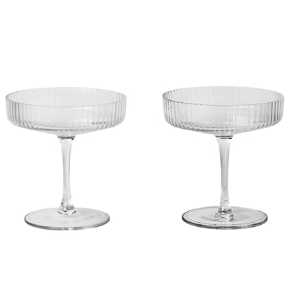 Ferm LivingRipple Champagne Glasses - Batten Home