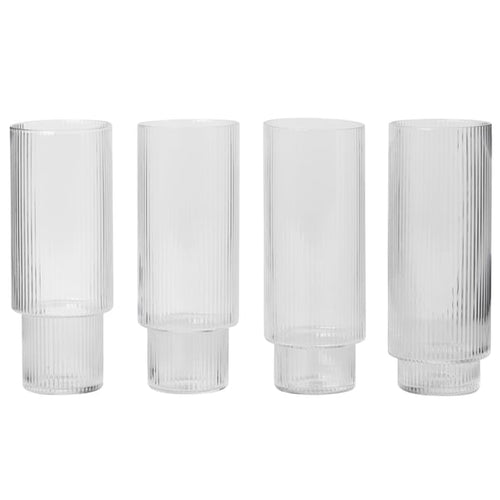 Ferm LivingRipple Long Drink Glass Set - Batten Home