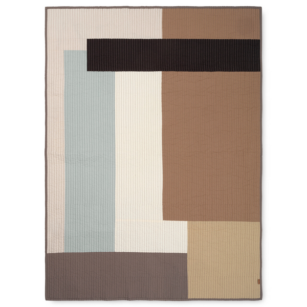 Shay Patchwork Quilted Blanket Desert - Batten Home