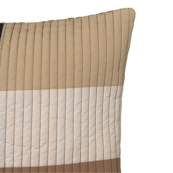 Ferm LivingShay Quilted Cushion Desert - Batten Home