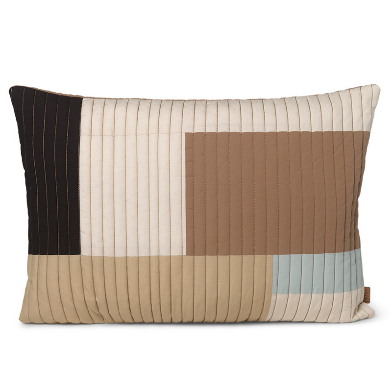 Ferm LivingShay Rectangle Quilted Cushion Desert - Batten Home