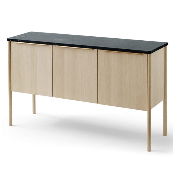SkagerakJut Cabinet Oak - Black Marble top - Batten Home