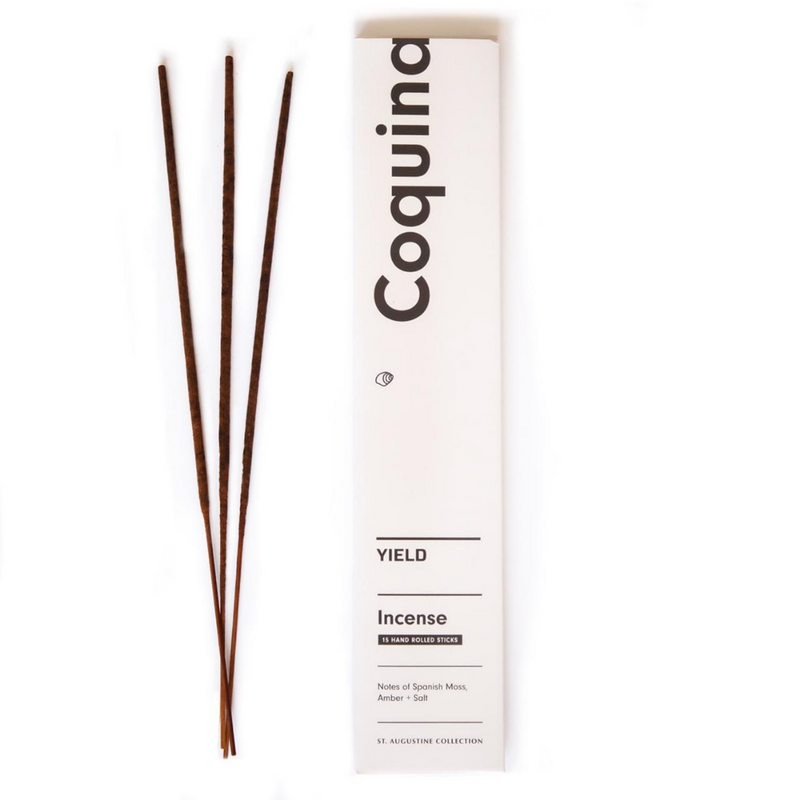 The Coquina Incense by Yield Design is inspired by the historic town Yield Design is based out of, Saint Augustine, Florida. Coquina blends amber, salt and notes of Spanish moss in dedication to the summer smell often present when exploring Saint Augustine including warm asphalt after a summer storm, and salt from the nearby ocean air.