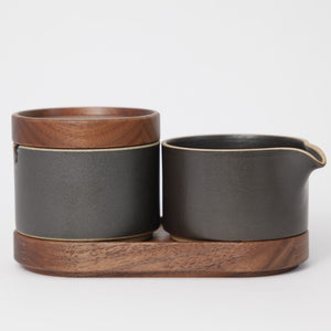 Hasami PorcelainSugar Bowl in Black - Batten Home