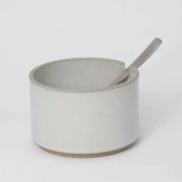 Hasami PorcelainSugar Bowl in Gloss Gray - Batten Home