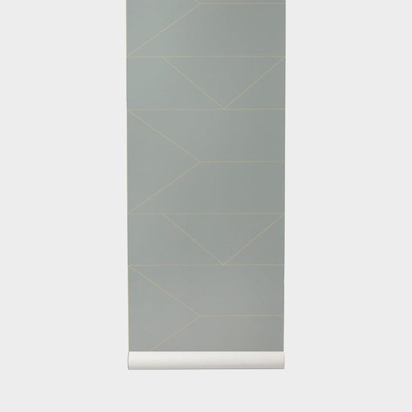 Lines Wallpaper Grey - Batten Home