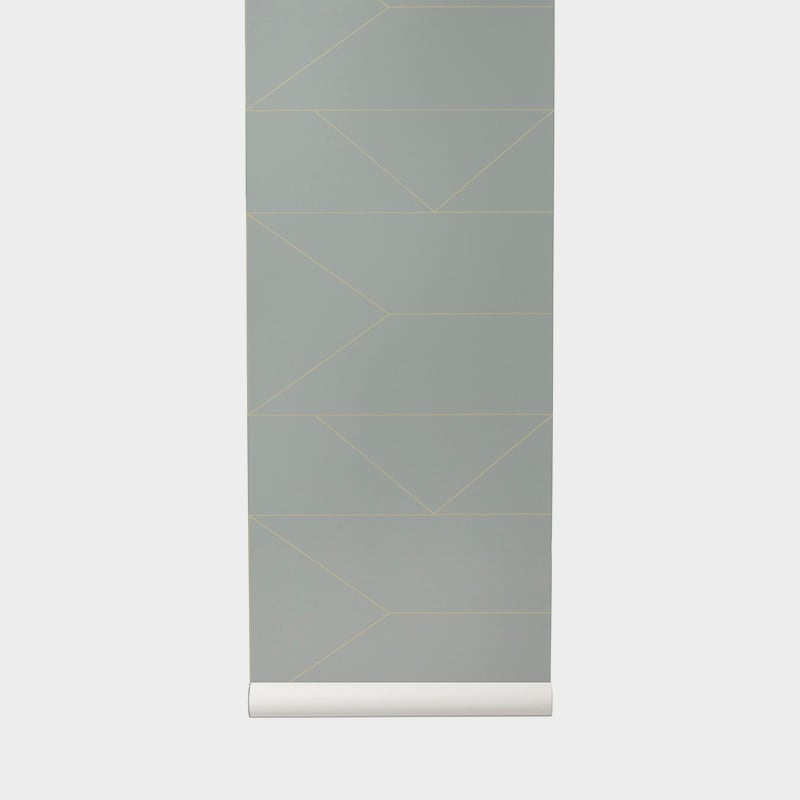 Ferm LivingLines Wallpaper Grey - Batten Home
