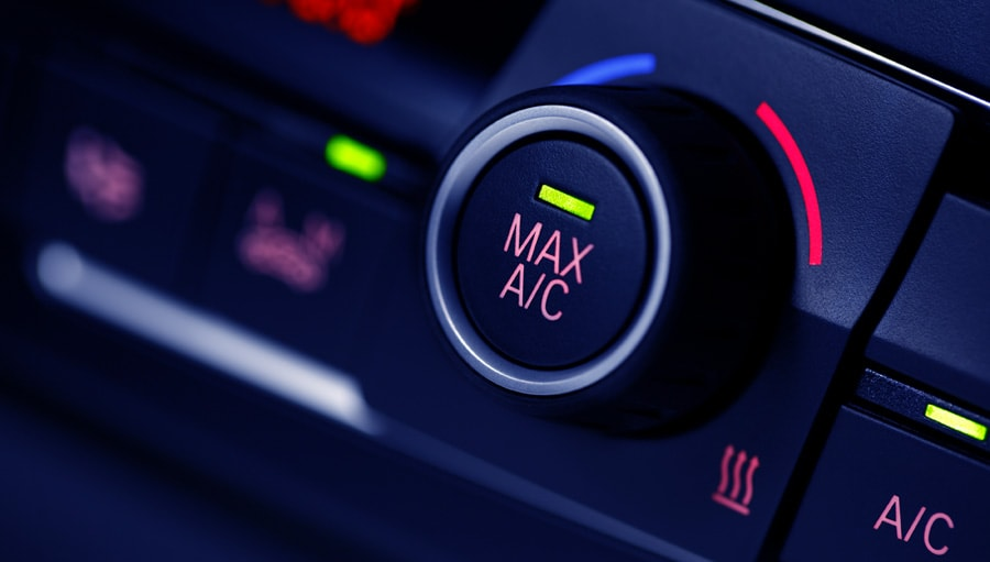 Air con max button in car