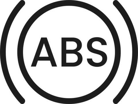 ABS icon in round circle in black
