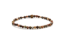 Load image into Gallery viewer, UNCOMMON Men's Beads Bracelet Silver Charm Jasper Beads