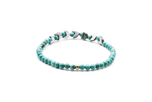 Load image into Gallery viewer, UNCOMMON Men's Beads Bracelet Silver Charm Turquoise Beads