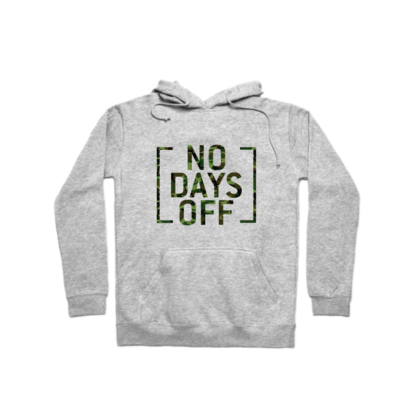 No Days Off Camo Hoodie - whistlesports