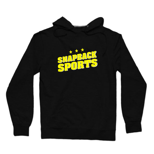Snapback Sports Yellow Stars Logo Pullover Hoodie - whistlesports