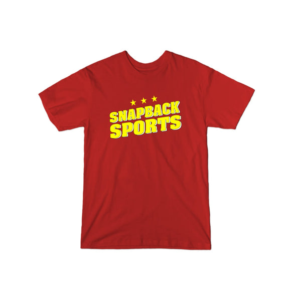 Snapback Sports Yellow Stars Logo T-Shirt - whistlesports