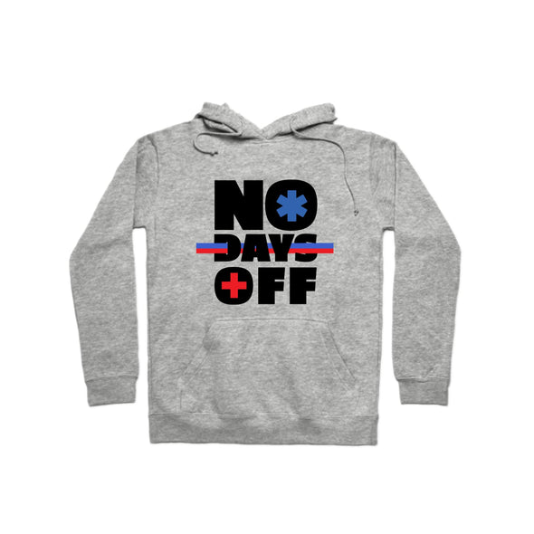"""No Days Off""  Hoodie - All Proceeds Support The World Health Organization! - whistlesports"