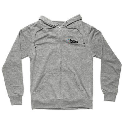 Team Whistle Zip Hoodie (Black Logo) - whistlesports