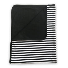 Load image into Gallery viewer, Lazy Baby® Organic Cotton Black and White Blanket - Just Done 9 Months Inside