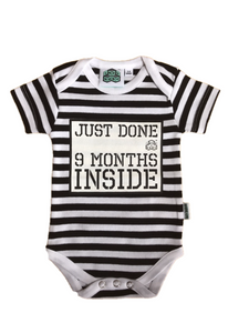 New Born gift -Just Done 9 Months Inside® Vest - Pregnancy Reveal - Coming Home Outfit - Baby Announcement - Just Done 9 Months Inside