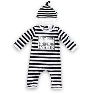Just Done 9 Months Inside/® Baby Grow and Hat lazy baby Bundle