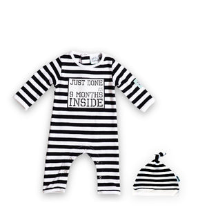 New Born - Just Done 9 Months Inside® - Baby Shower Gift - Coming Home Outfit - Baby Announcement. - Just Done 9 Months Inside