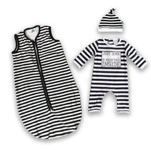 Load image into Gallery viewer, Lazy Baby® Just Done 9 Months Inside® Coming Home bundle Sleeping Bag and Baby Grow - Baby Shower Gift - Baby Announcement - Just Done 9 Months Inside