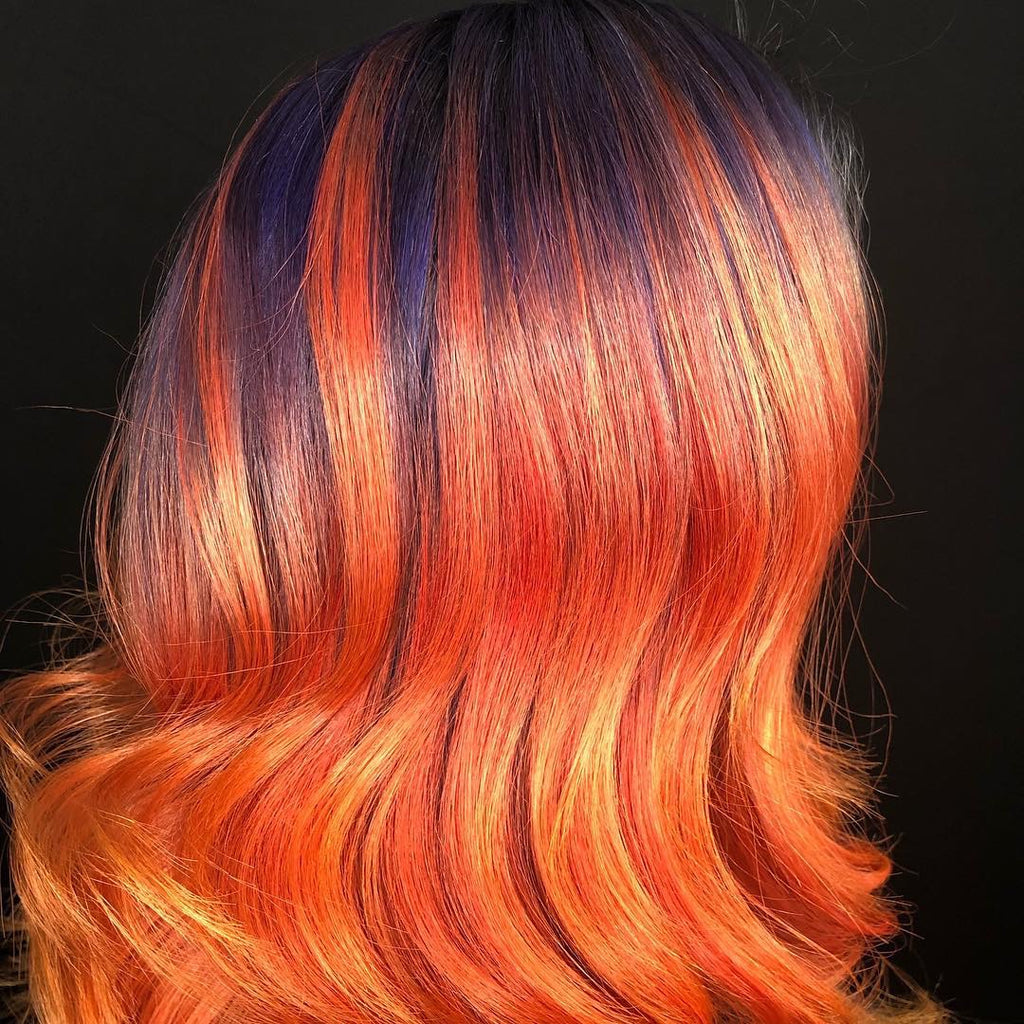 Bold Orange Hair Color