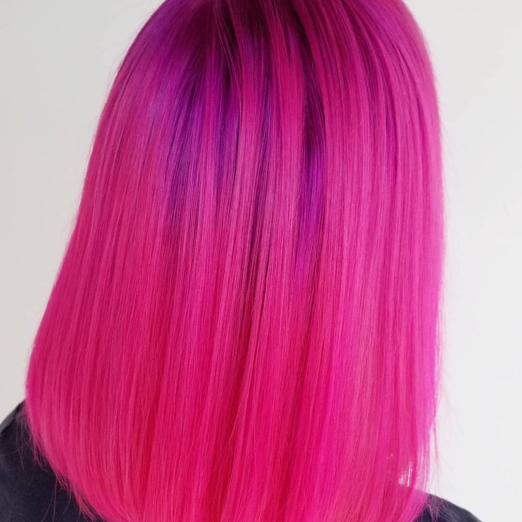 Bold Pink Hair Color