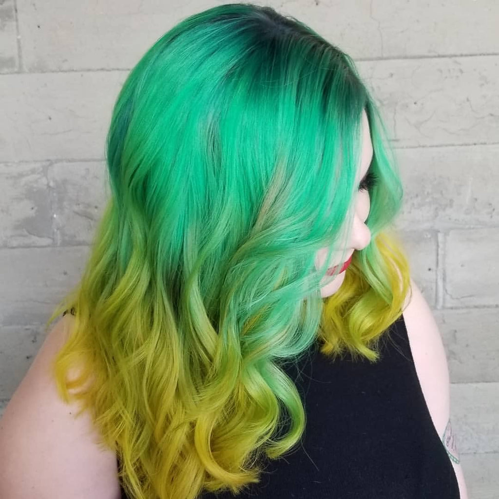 Bold Green Hair Color